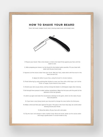 WHAT A MAN SHOULD KNOW / How To Shave Your Beard