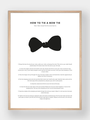 WHAT A MAN SHOULD KNOW / How To Tie A Bow Tie - stvalentin.dk - 1