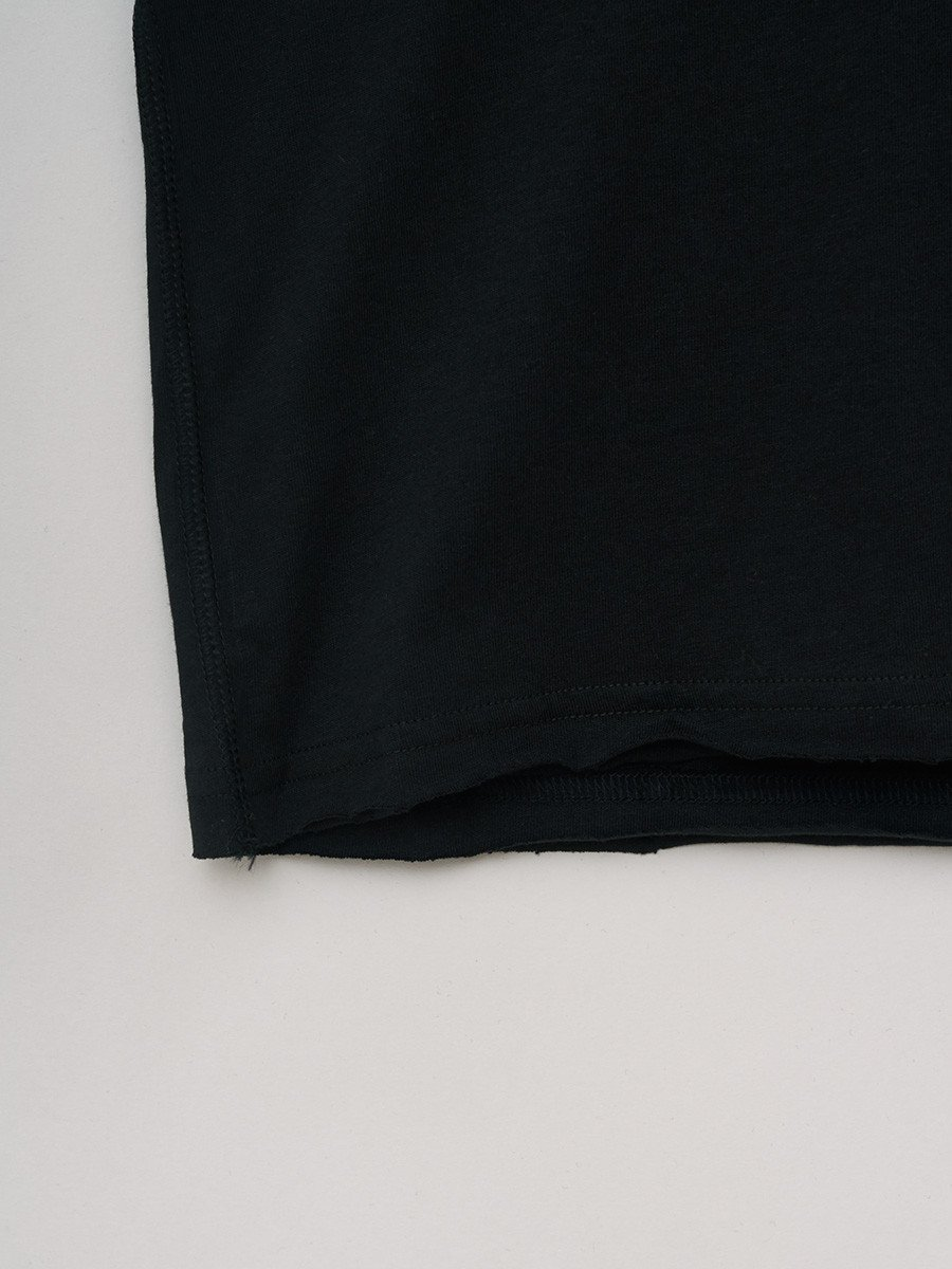 BREAD & BOXERS / Crew-Neck Relaxed T-shirt | Black