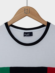 H2O / Hellerup Tee | White Green Navy Red