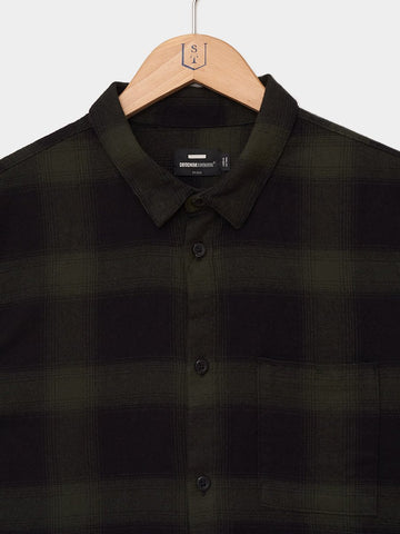 DR. DENIM / Mick Regular Shirt | Green Shadow Check