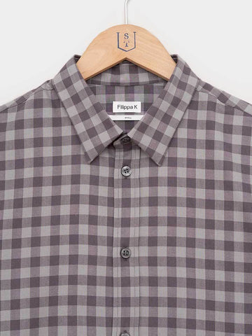 Filippa K / Pierre Check Shirt | Dark Grey