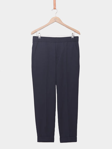 Filippa K / Terry Gabardine Cropped Pants | Navy