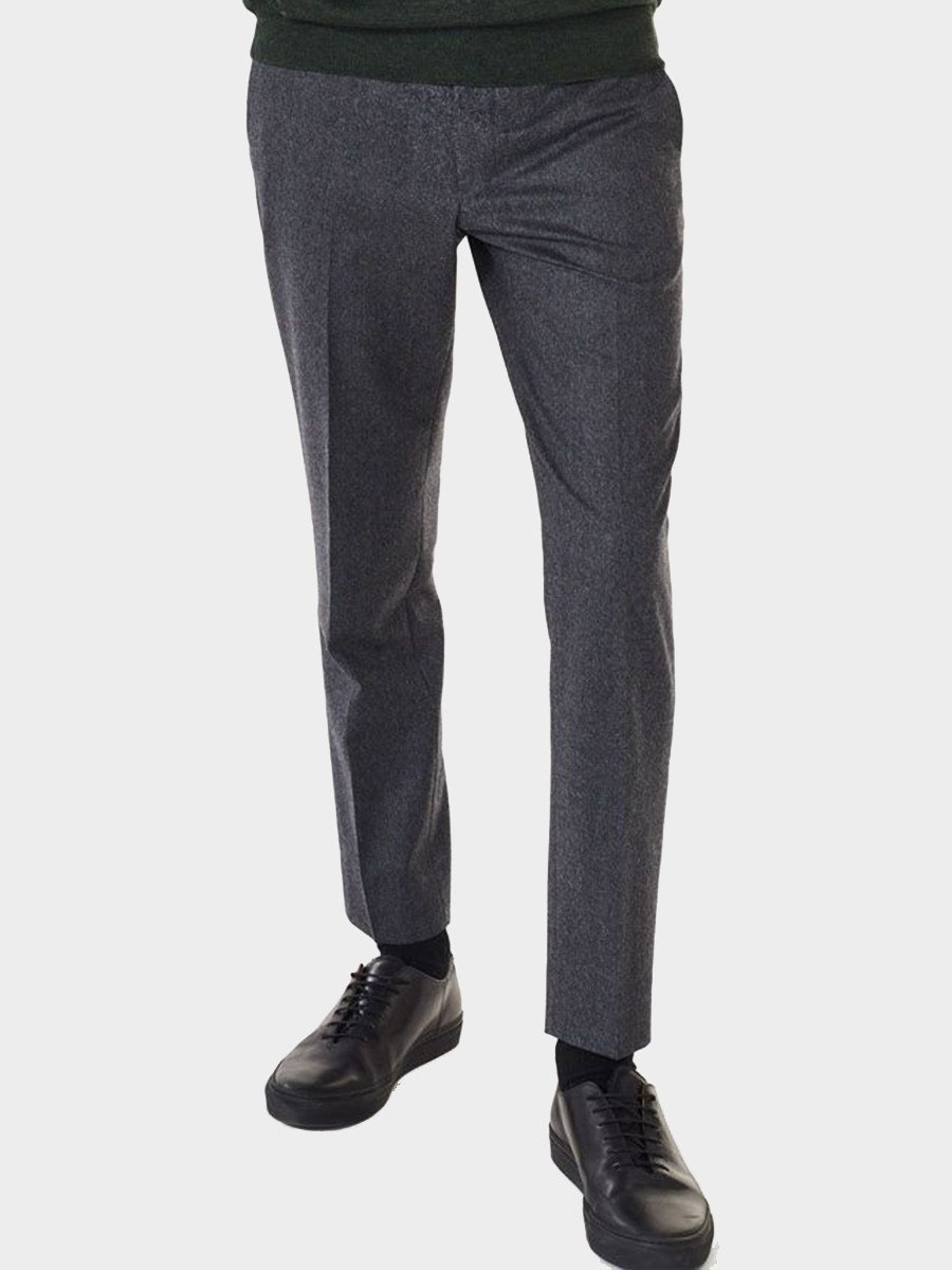 Gant Rugger / Deluxe Flannel Smarty Pants | Dark Grey Melange