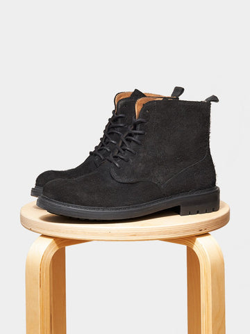 Garment Project / Army Boot | Black Suede