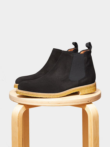 Garment Project / Chelsea Boot | Black Suede