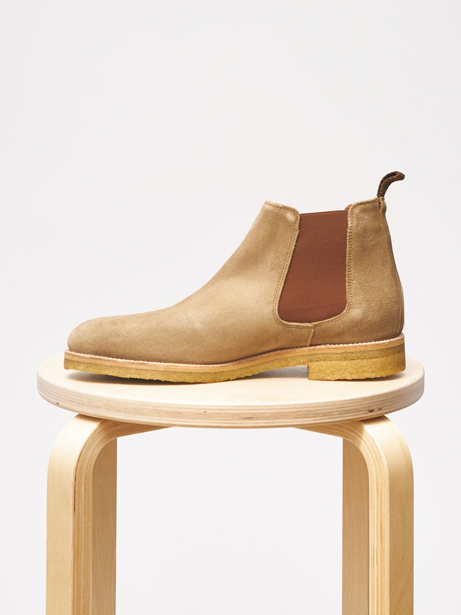 Garment Project / Chelsea Boot | Tobacco Suede - stvalentin.dk - 3