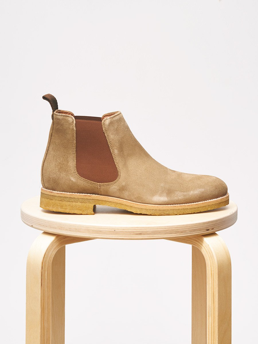 Garment Project / Chelsea Boot | Tobacco Suede - stvalentinshop.dk - 5