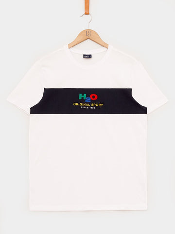 H2O / Club Tee | White Navy