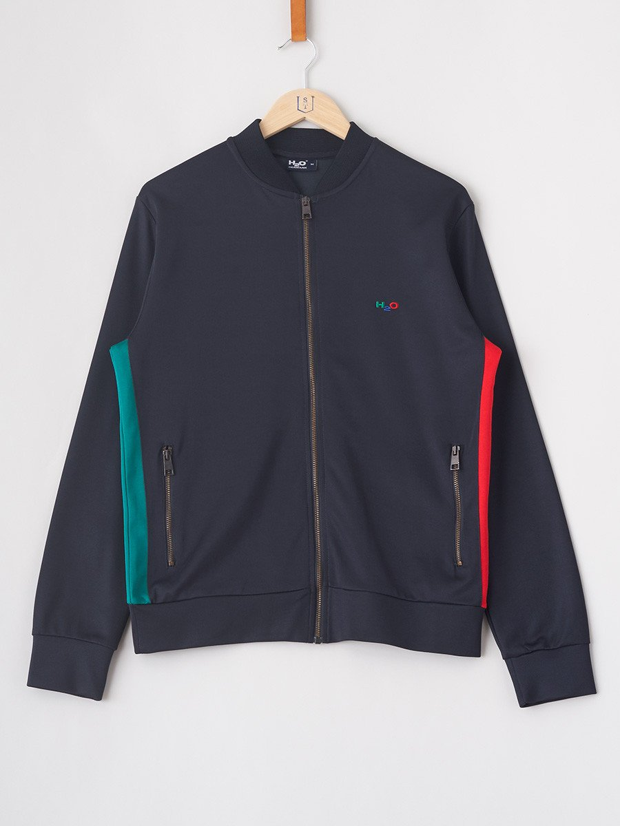 H2O / Bobby Track Top | Navy Red Green - stvalentin.dk - 1