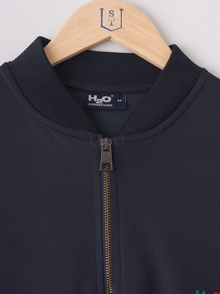 H2O / Bobby Track Top | Navy Red Green - stvalentin.dk - 6