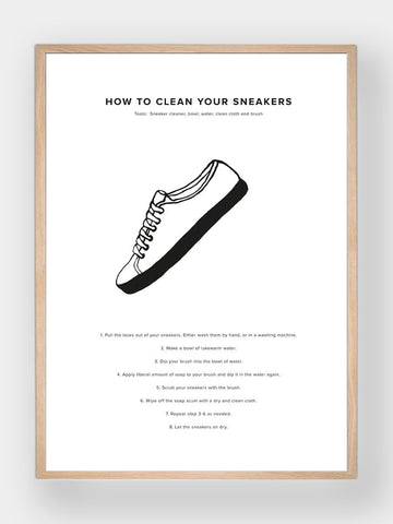 WHAT A MAN SHOULD KNOW / How To Clean Your Sneakers - stvalentin.dk - 1