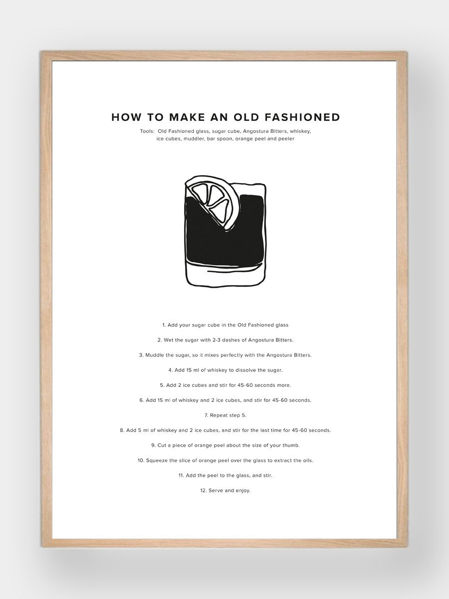 WHAT A MAN SHOULD KNOW / How To Make An Old Fashioned - stvalentinshop.dk - 1