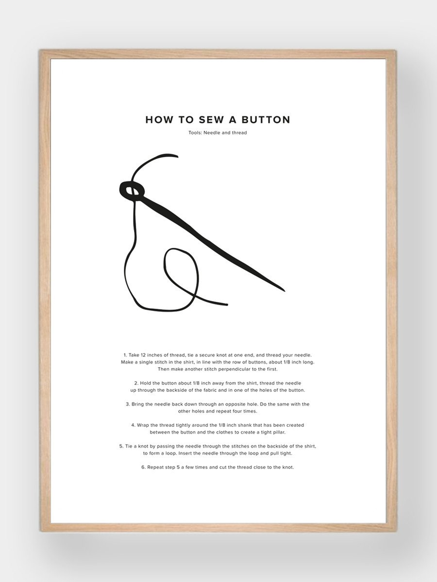 WHAT A MAN SHOULD KNOW / How To Sew A Button - stvalentinshop.dk - 1