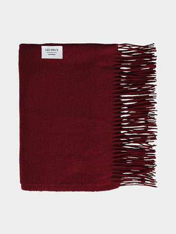 Les Deux / Wool Scarf | Dark Red
