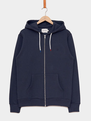 Les Deux / French Zipper Hoodie | Navy