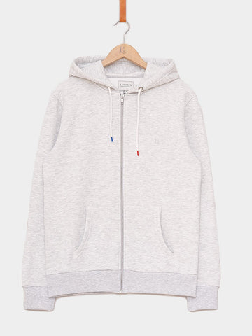 Les Deux / French Zipper Hoodie | Snow Melange