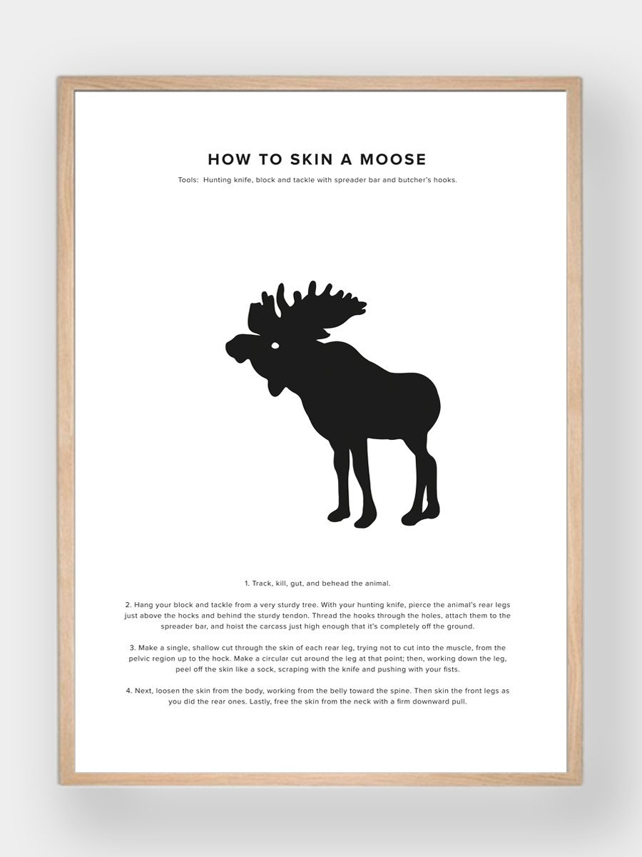 WHAT A MAN SHOULD KNOW / How To Skin A Moose - stvalentinshop.dk - 1