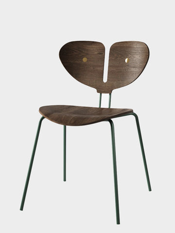 Nordic Tales / Moth Chair | Smoked Oak & Dark Green