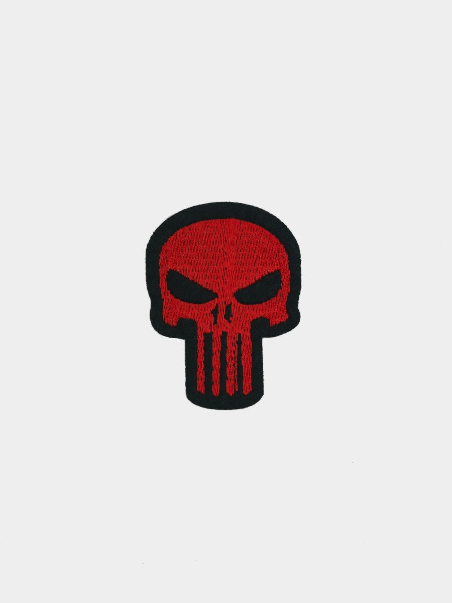 Iron Patches / Skull Red