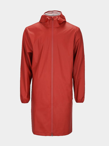 RAINS / Long Base Jacket | Scarlet