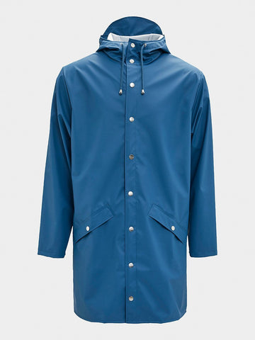 RAINS / Long Jacket | Faded Blue