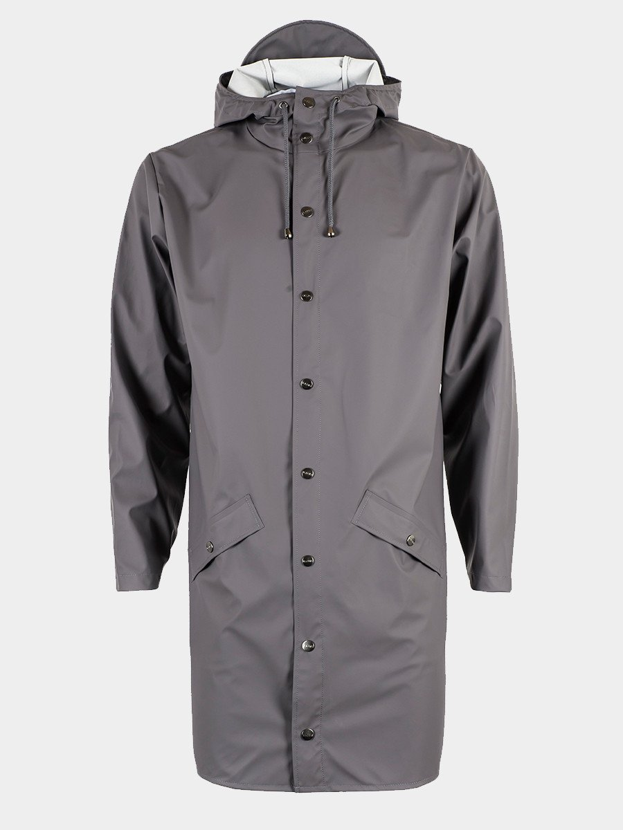 RAINS / Long Jacket | Smoke - stvalentin.dk - 1