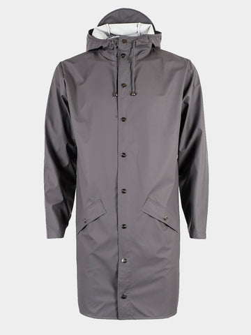 RAINS / Long Jacket | Smoke