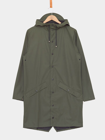 RAINS / Long Jacket | Green