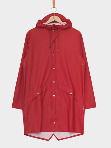 RAINS / Long Jacket | Scarlet