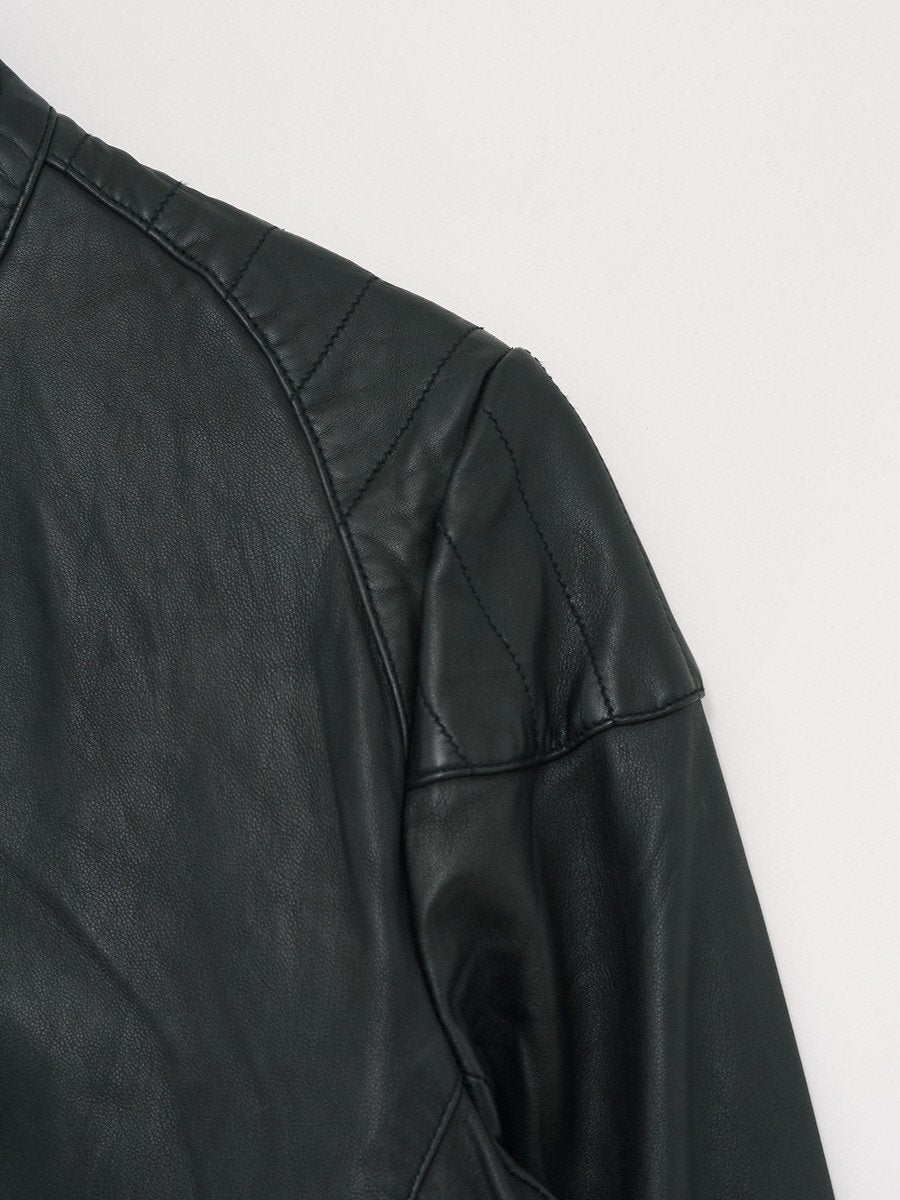 Revolution / 7303 Quilted Leather Jacket | Black