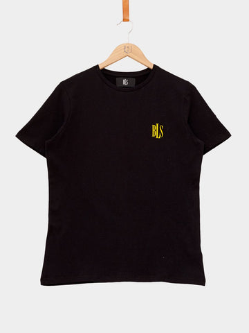 BLS Hafnia / BLS Mini Logo T-shirt | Black Yellow