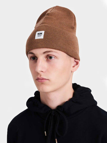 Wood Wood / Gerald Tall Beanie | Camel