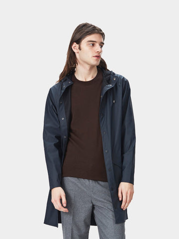 Long Jacket fra i Navy Blå fra Rains