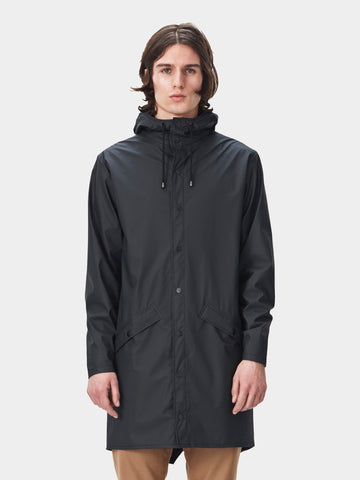 RAINS / Long Jacket | Black