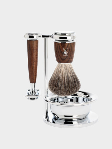 MÜHLE / Rytmo Shaving Kit | Chrome Plated