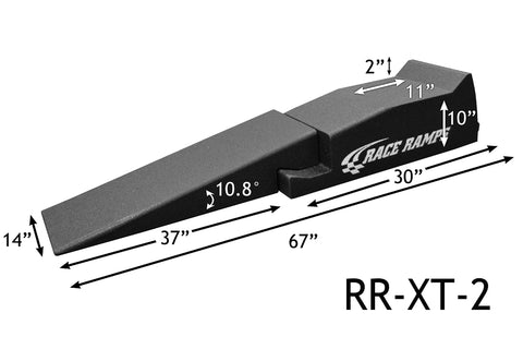 "race ramps rr-xt-2 service ramp 67"" inch 2 piece"