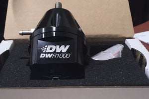 DEATSCHWERKS DWR1000 ADJUSTABLE FUEL PRESSURE REGULATOR (W/ OPTIONAL GAUGE)
