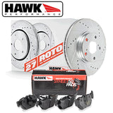 Hawk Performance 09-15 CTS-V Sector 27 Rotors w/ HPS 5.0 Pads Kit -Rear - 4JTT Performance