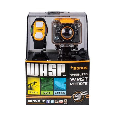 WASPCAM ACTION SPORTS CAMCORDER WITH WRIST REMOTE