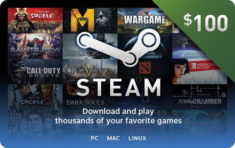 $100 Steam Wallet Card - GamersDeal.com