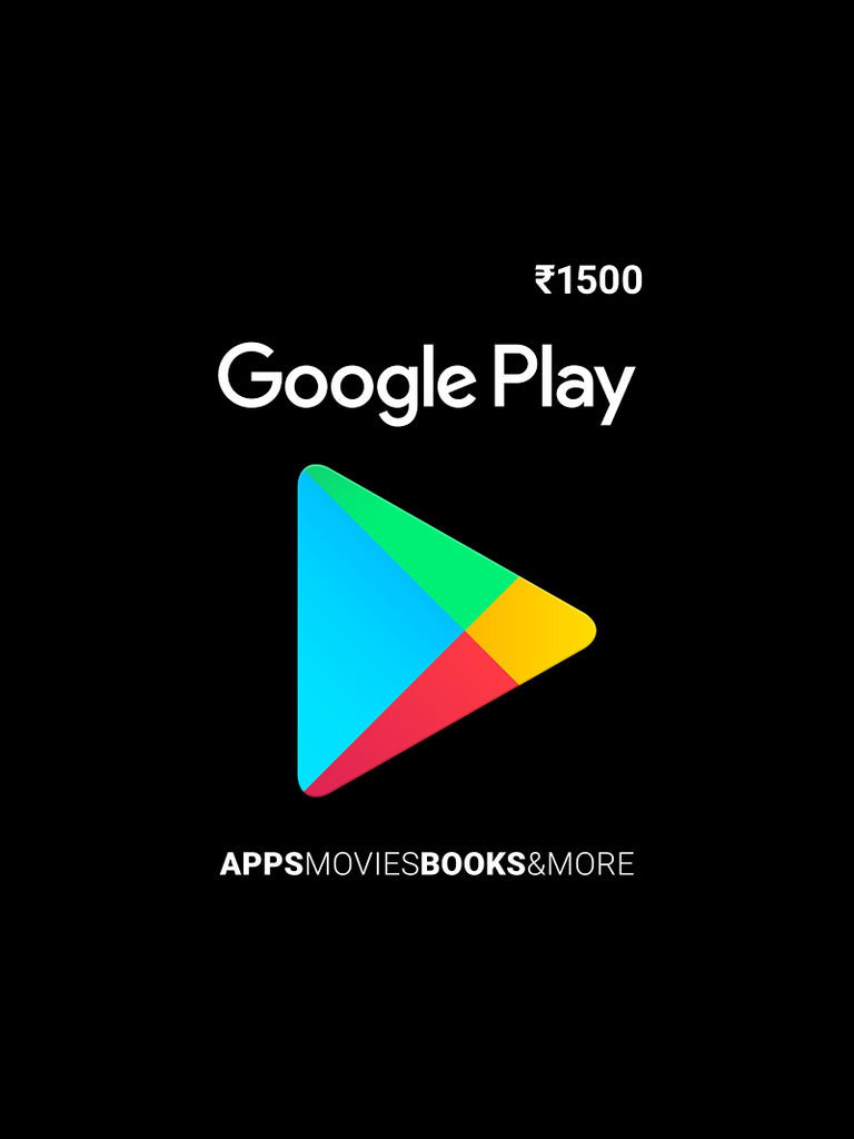 Google Play Gift Card Rs. 1500