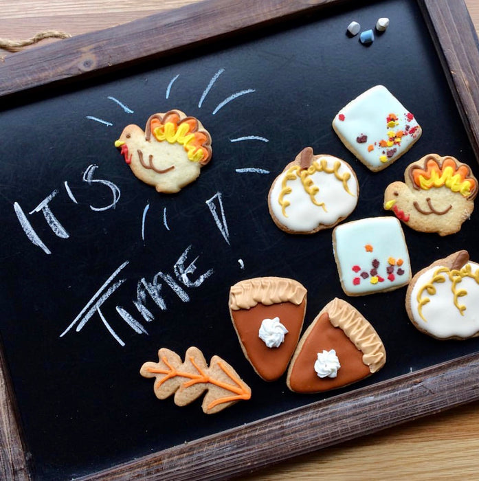 Thanksgiving Shortbread Cookie Boxes