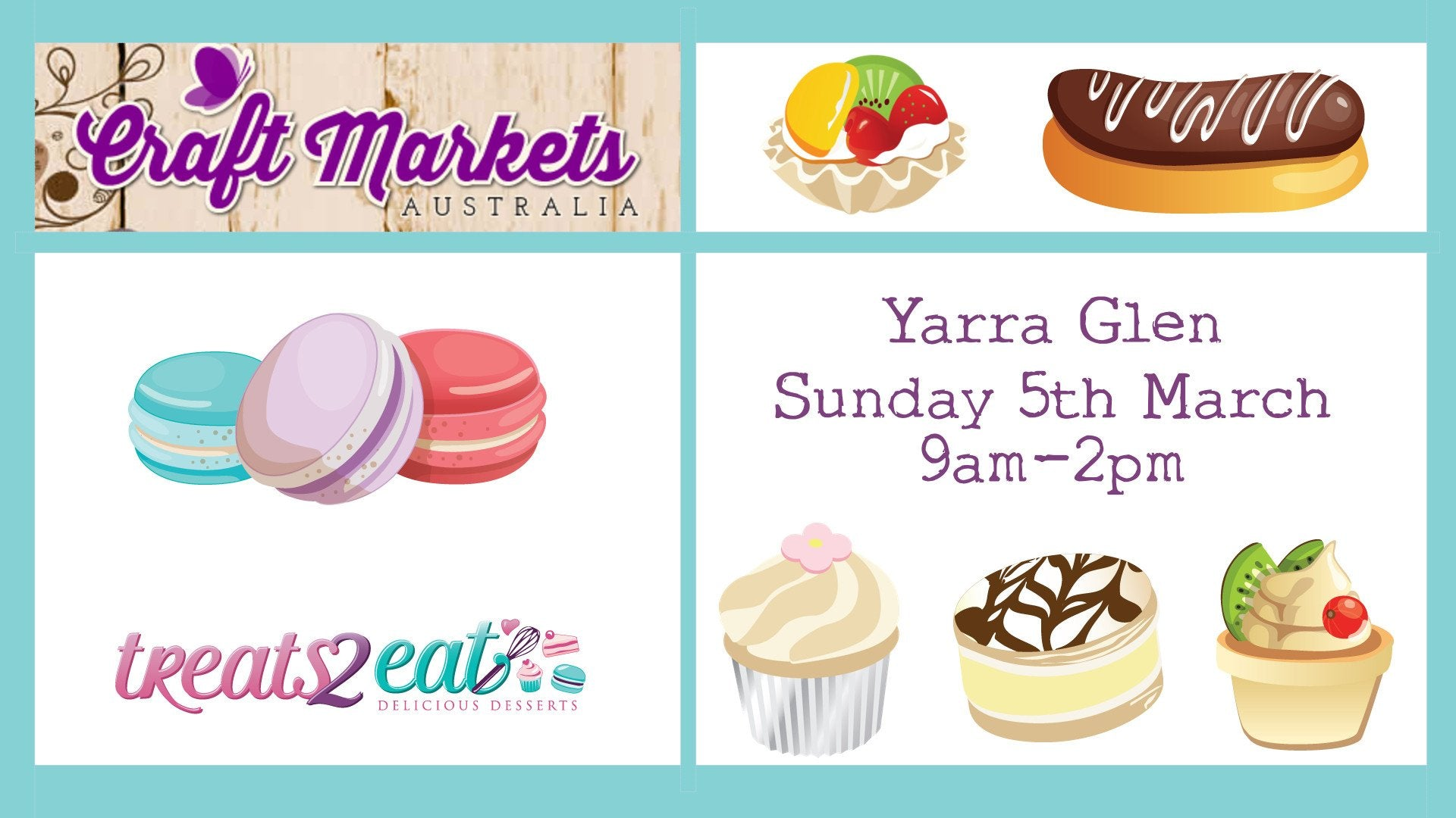Treats2eat at the Yarra Glen Market