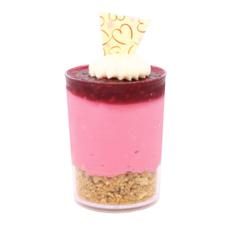 Dessert Cup - Raspberry Cheesecake - Treats2eat - Wedding & Birthday Party Dessert Catering Near Me