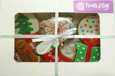 Christmas Gingerbread Cookies (6 Pack Gift Box)