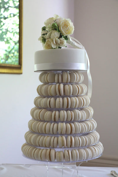 how to make a macaron tower stand