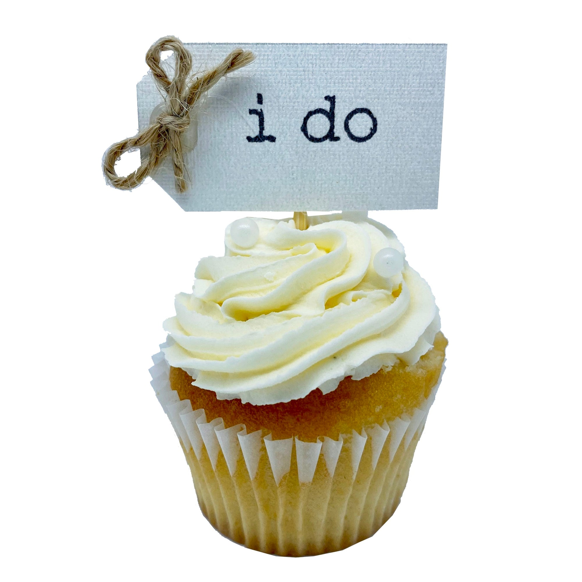 "Mini Cupcake - ""i do""  Wedding (Ivory) - Treats2eat - Wedding & Birthday Party Dessert Catering Near Me"