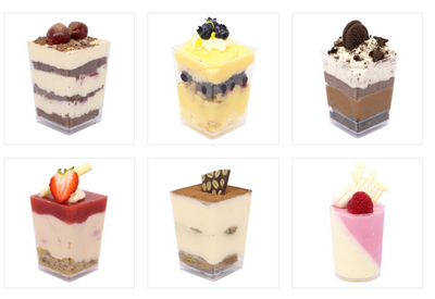 Dessert Cup Catering Pack B (30, 45 or 60 guests)