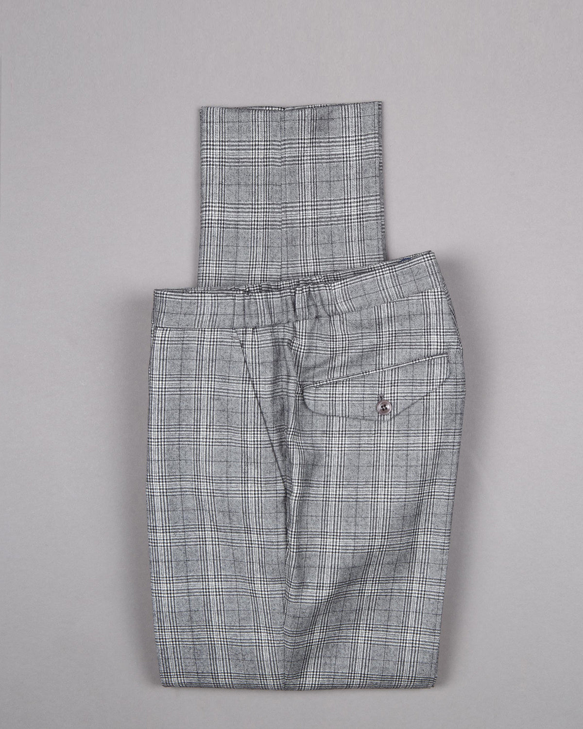 Checked Wool Trouser